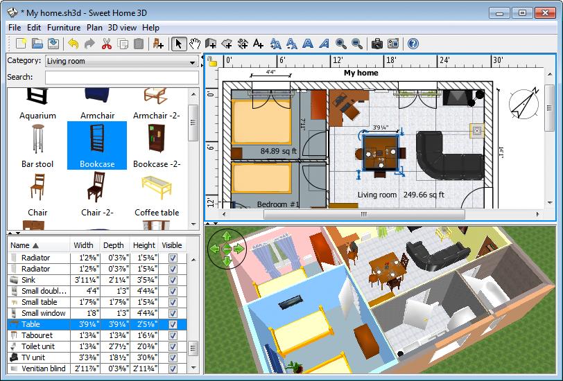 cara mudah mendesain rumah dengan sweet home 3d