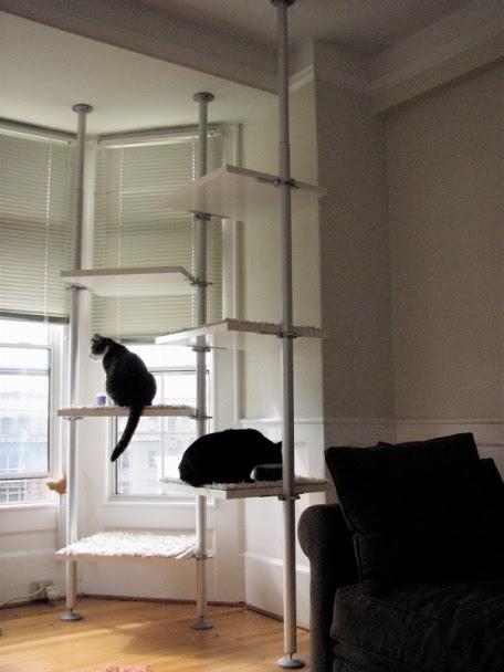Rbol gimnasio para varios gatos fabricado con ikea - Arbol gato ikea ...