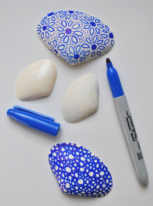 shells and sharpies