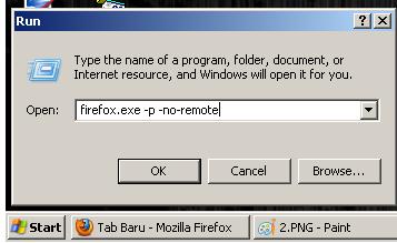 Menjalankan 2 Browser Mozilla