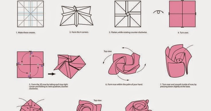 origami rose diagrams origami flower easy rh origamiflowereasy blogspot com origami rose diagrams Origami Kawasaki Rose Direction
