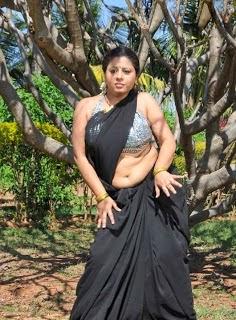 Telugu Aunty Sunakshi Hot Armpit and Navel Show in Transparent Saree