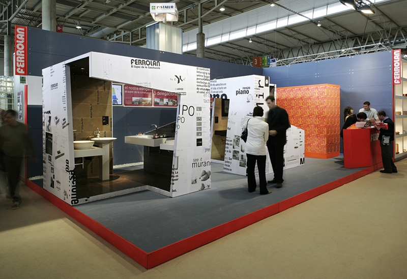 Exhibition Stand Design Construmat 2005 Ferrolan Lab