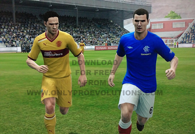 PES 2013: Rangers SPL Scottish Football League option file