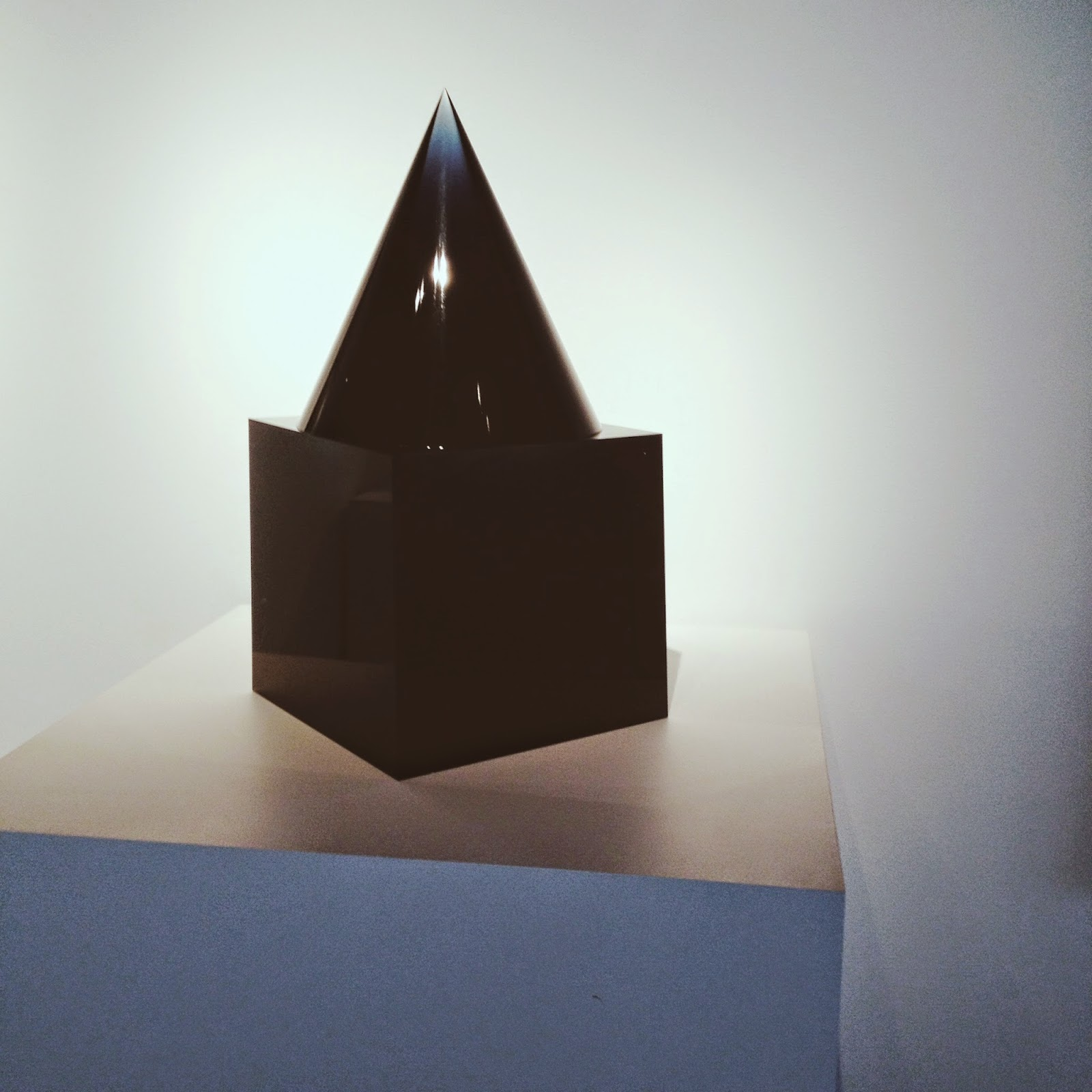 black, glass sculpture at Corning Museum of Glass