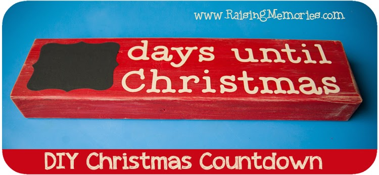 Make a Vinyl & Wood Christmas Countdown at www.RaisingMemories.com