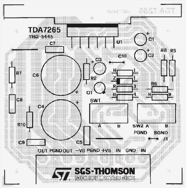 Wiring amp diagram Info TDA7265 Audio Amplifier 2x25W