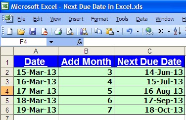 how to add one month to a date in excel