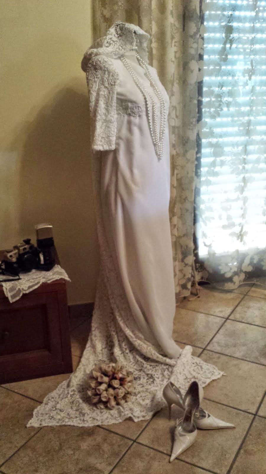 abito da sposa di mia suocera