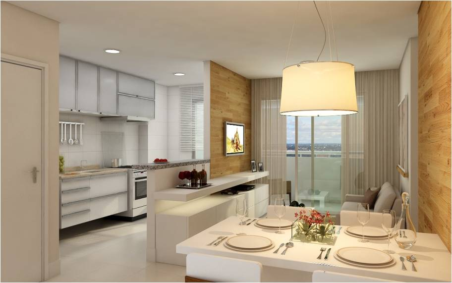 decoracao de cozinha integrada a sala de jantar:Desmontado: Sala e Cozinha integradas