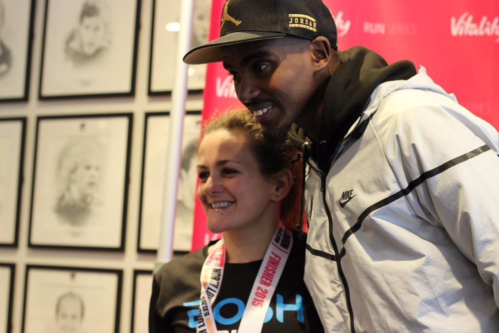 FitBits | Tess Agnew and Mo Farah at the North London Half