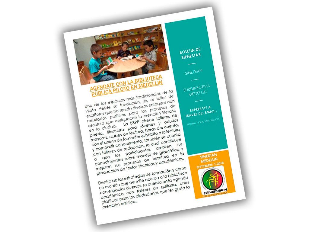 Boletín de Bienestar: SINEDIAN Subdirectiva Medellin