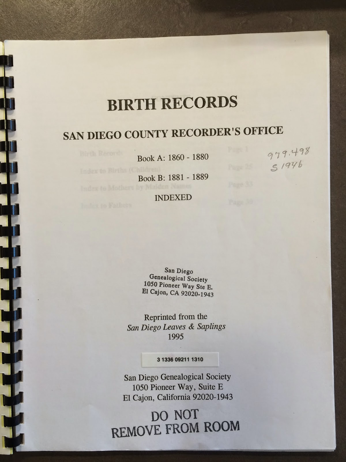 Genea musings 1 san diego county birth records 1860 1889 compiled by san diego genealogical society aiddatafo Images