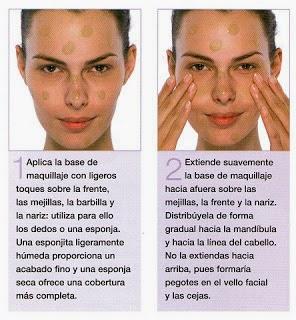 aplicar base de maquillaje con los dedos