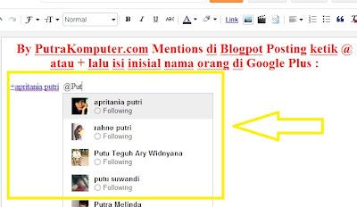 Mentions, Blogger, Google+