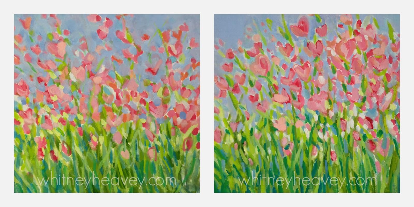 Pink Flower Paintings