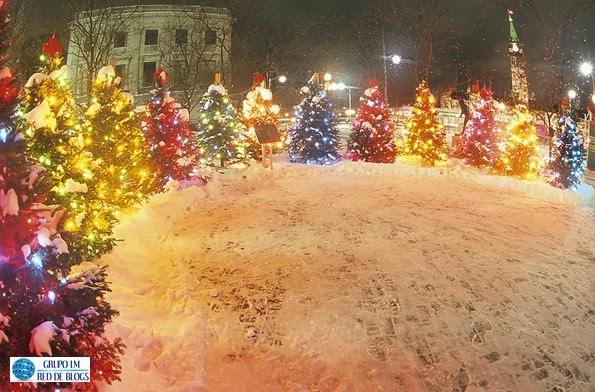 Los árboles de Navidad de distintos colores