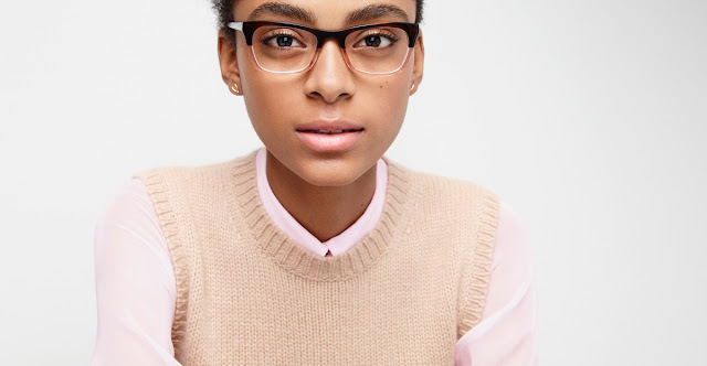 girl in two-tone glasses