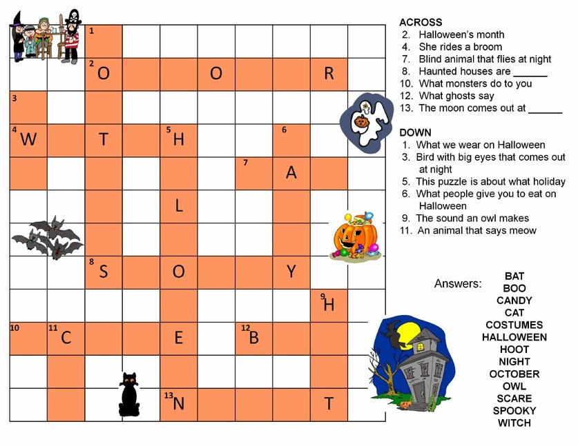 puzzles printable easy 2 halloween crossword puzzles printable easy 3