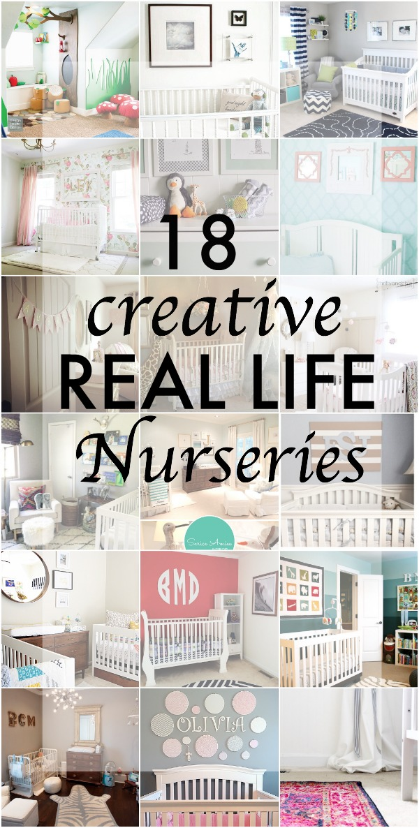 18 Creative Real Life Nurseries - Great inspiration from home bloggers and designers