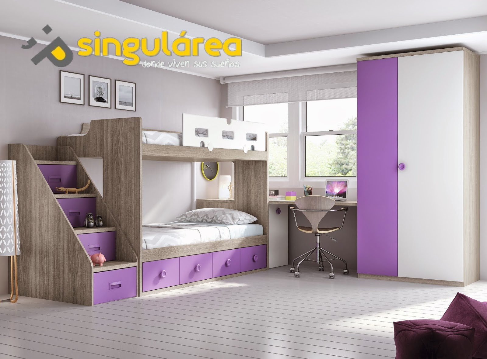 Litera juvenil contenedores 1196 - Dormitorios juveniles dobles ...