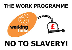 Working Links Work Programme ball and chain protest