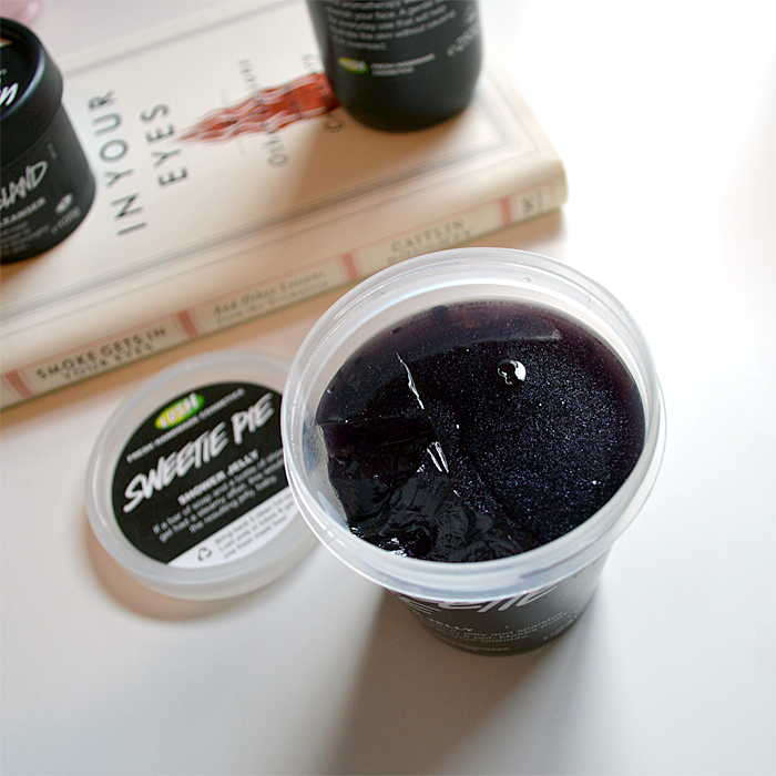 A picture and a review of Lush Sweetie Pie Shower Jelly