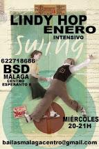 LINDY HOP ENERO, LOS MIÉRCOLES A LAS 20H, EN BSD BAILAS SOCIAL DANCE MÁLAGA CENTRO .
