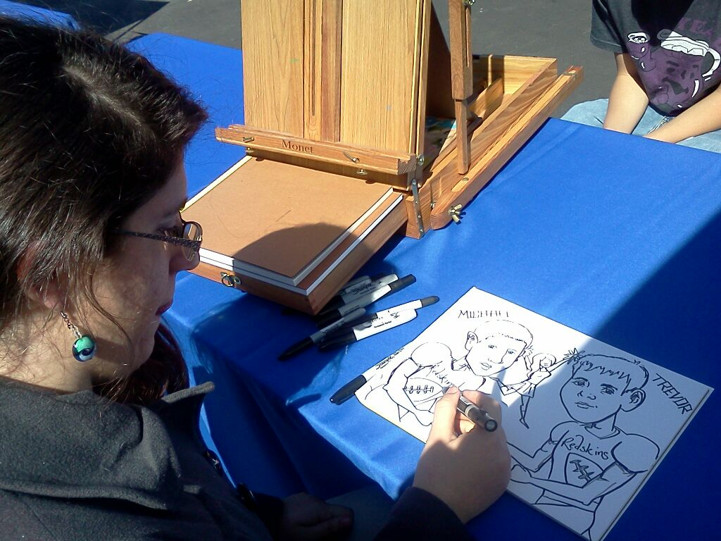 Caricature Artist Wake Forest NC | paintsavvyentertainment