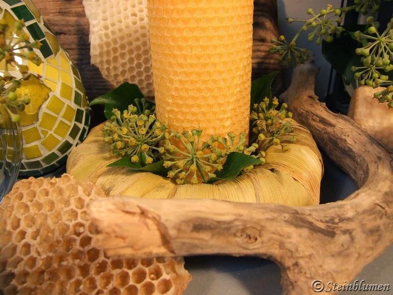 honigfarbener Tischkranz