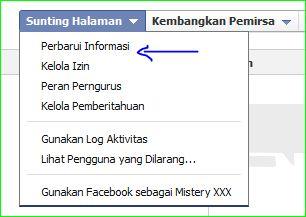 cara merubah atau mengganti nama judul halaman facebook