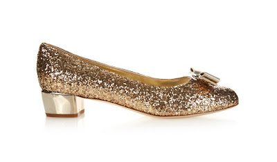 Valentino Low heeled glitter bow pumps