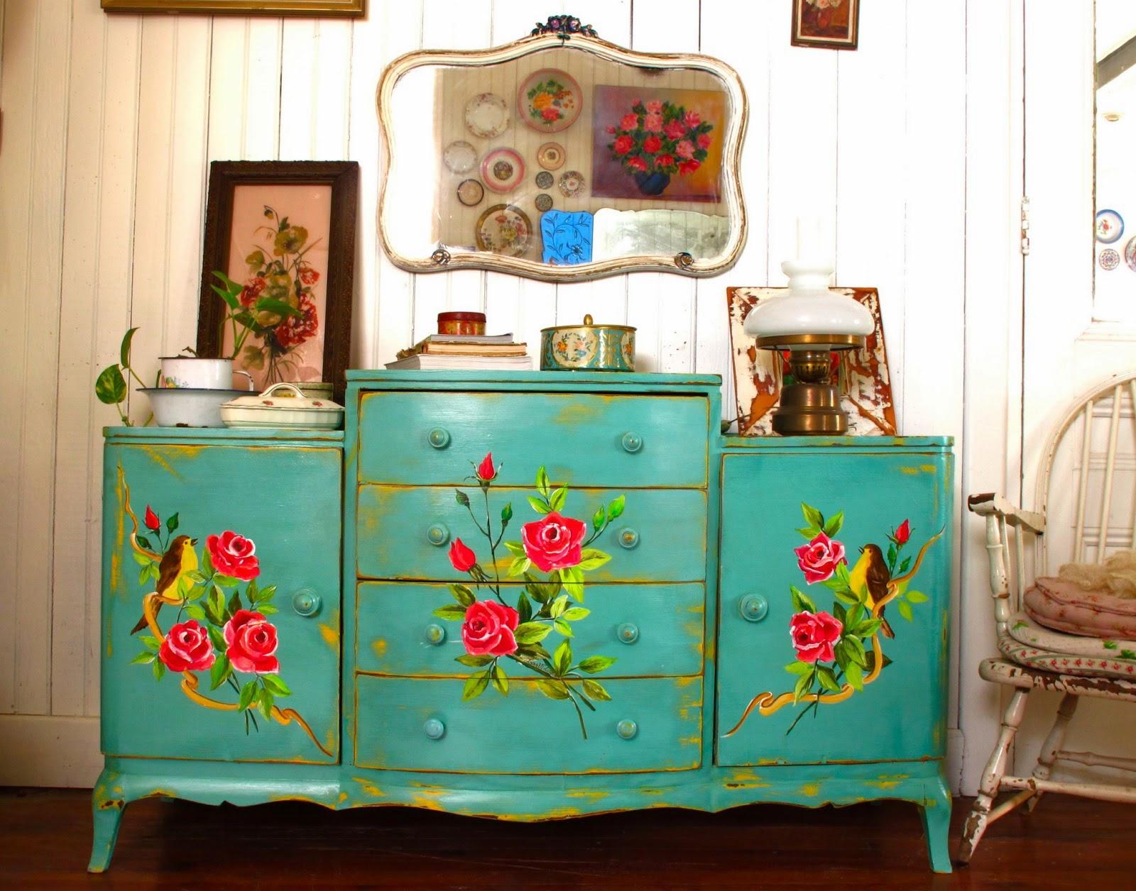 Repagina o de m veis em estilo vintage jeito de casa blog de decora o e arquitetura - Comodas pintadas ...