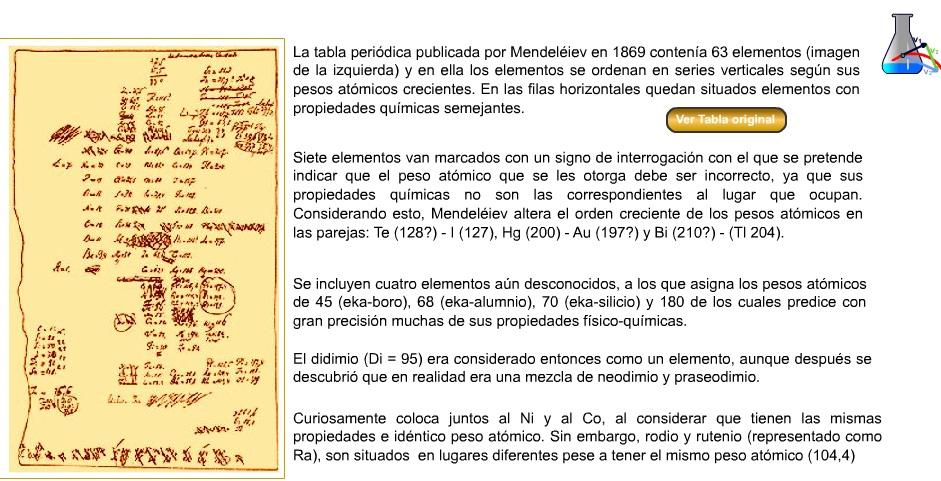 Quimica 3 la tabla peridica de mendeleiev la tabla peridica de mendeleiev urtaz Choice Image