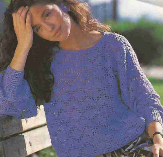 Jersey en lila a Crochet