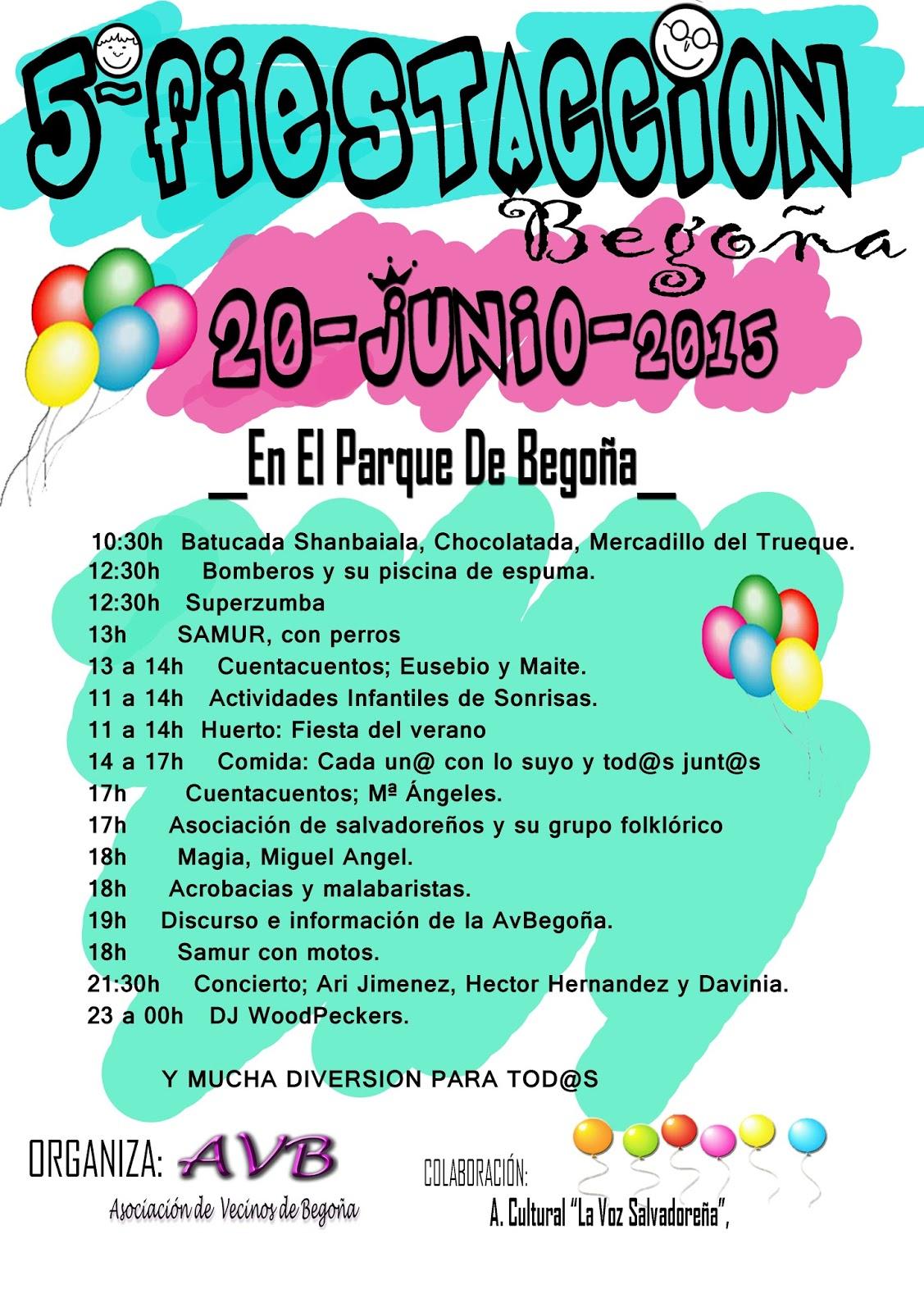 Sábado 20 junio Fiesta en Begoña
