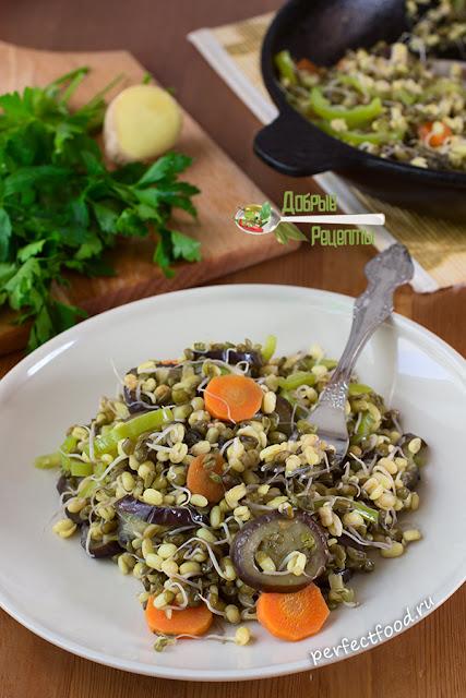 Вкусный осенний салат из пророщенного маш, рецепт салата из пророщенного маш