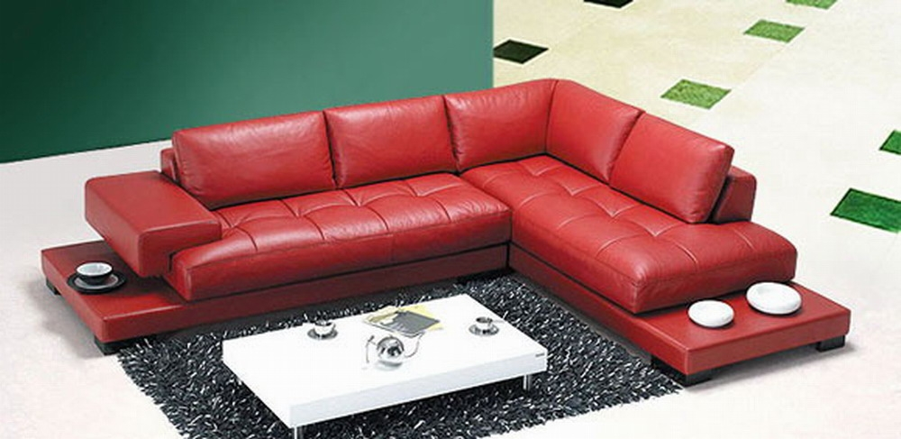 Home Design The Best Red Leather Sofa Design