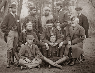 A group of foreign observers with Union General van Vliet