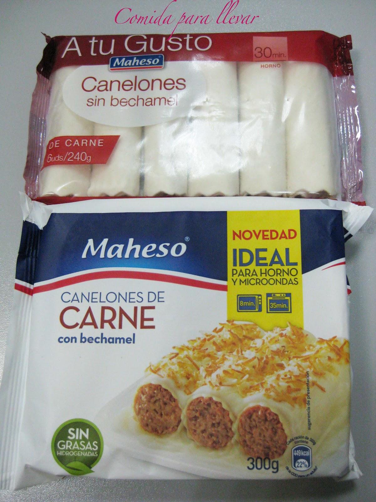Canelones ready to serve comida para llevar - Canelones en microondas ...