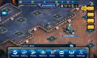 Screenshots of the War of galaxy for Android tablet, phone.