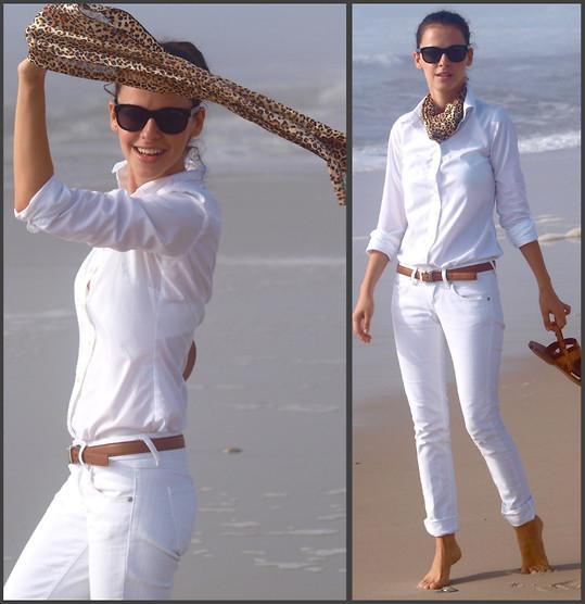 Bu kombini teyzoşuma ithafen aldım beyaz pantolon beyaz gömlek