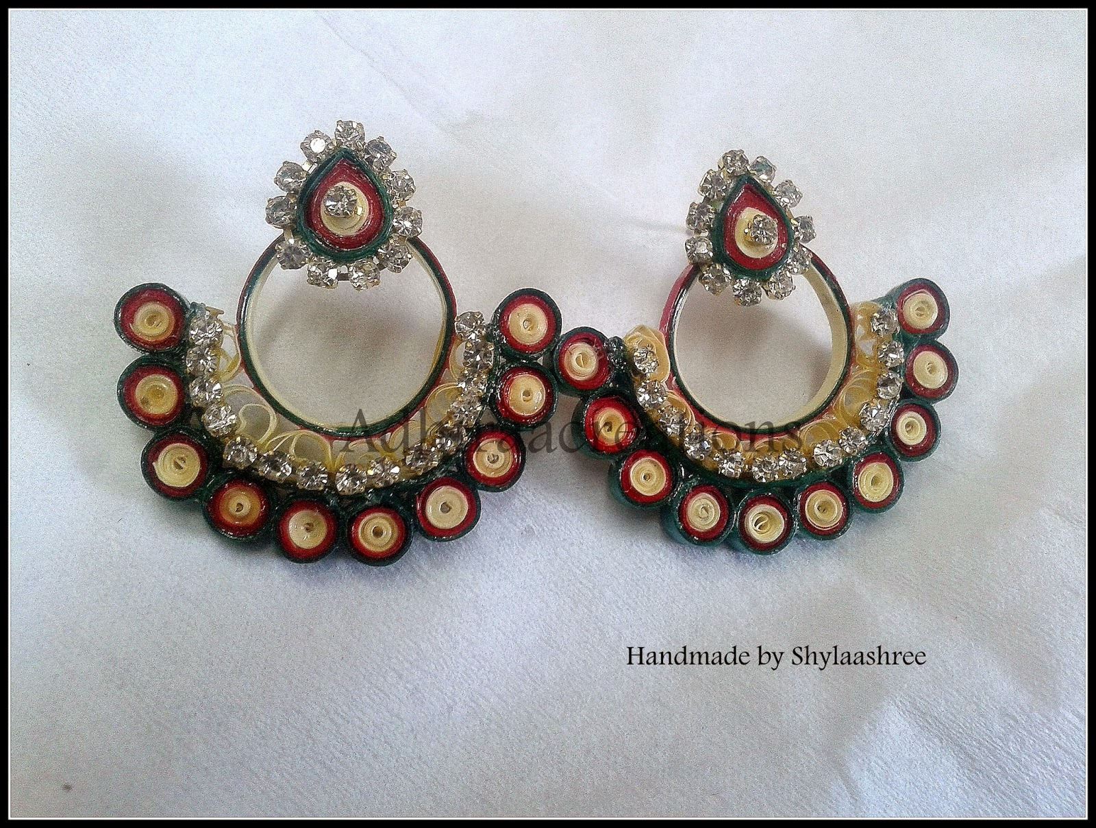 Quilling Earrings Designs Images : Adhiraacreations: Quilling Earring Designs