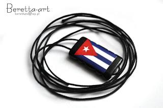 wisior z flagą kuby
