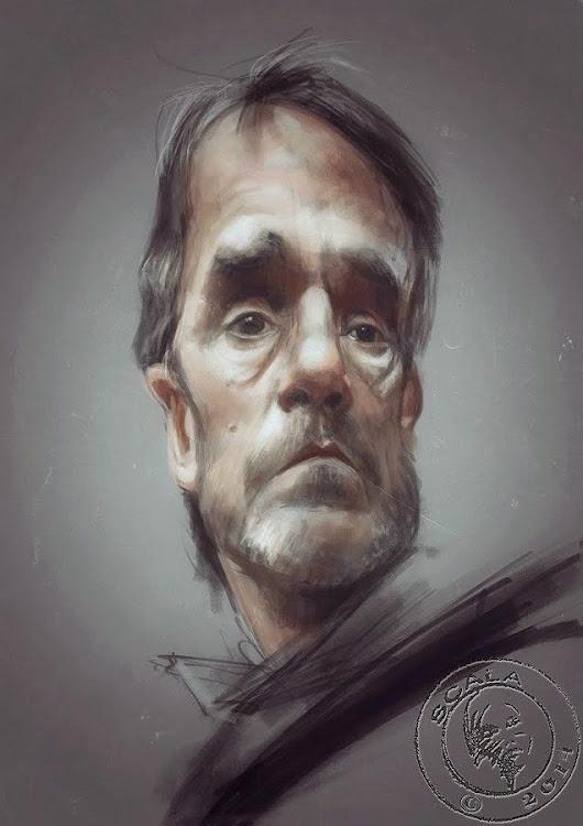 Caricatura de Jeremy Irons by Risa Sin Más