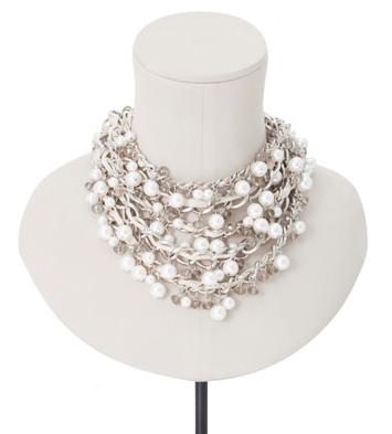 collar multicadenas perlas Stradivarius