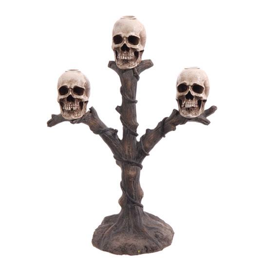 raz skull candle holder - Raz Halloween Decorations