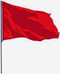 illustration of a red flag flying