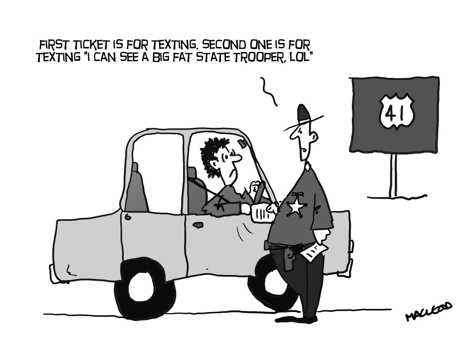 Texting And Driving Quotes Macleod Cartoons Texting While Driving Now Illegal In Indiana