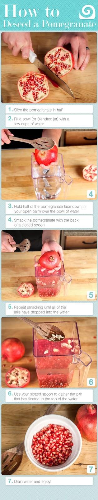 cómo pelar las granadas